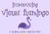 Violet Flamingo - A Quirky Hand-Written Font example image 1