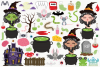 Witches Pantry Clipart, Instant Download Vector Art example image 2