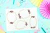Geometric Gold Frames, Floral Crystal Frames, Wedding Frames example image 4