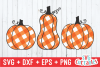 Gingham Plaid Pumpkins | Fall Cut File example image 1