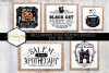 Halloween Sign Bundle SVG PNG DXF Painted Laser Cut Files example image 1