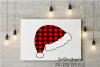 Plaid Santa hat example image 1