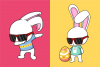 Funkie Bunny - SVG, EPS, DXF, PNG, example image 3