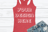 Anvil 6751L Racerback Tank Mockups with Background - 6 example image 6