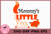Mommy's Little Fox svg, Fox svg, Baby svg, Little Fox SVG example image 1