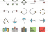 90 Infographics Filled Line Icons example image 2