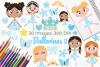 Ballerinas 2 Clipart, Instant Download Vector Art example image 1