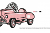 RETRO Pedal Car ~ Machine Embroidery Design in 2 sizes - Instant Download ~ Hurtling Down the Hill in our Pedal Cars example image 3