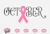 October Breast Cancer Awareness Ribbon - A Breast Cancer SVG example image 1