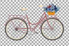 Navy blue floral blush and yellow bicycles clip art pack example image 7
