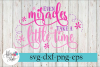 Even Miracles Take a Little Time Baby SVG Cutting Files example image 1