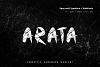 Arata - Handmade freestyle Scratchy Webfont example image 1