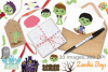 Zombie Boys Clipart, Instant Download Vector Art example image 4