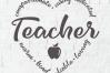 Teacher heart word Art - a Teacher appreciation week SVG example image 2