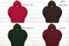 Hoodie Mockup Bundle Gildan 18500 Basic hoodie mockups example image 3