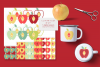 Apples Clipart Set with Matching Digital Collage Sheets PNG example image 1
