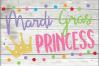 Mardi Gras princess SVG - Girls Mardi gras Cut File - Mardi example image 1