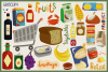 80 Groceries Vector Clipart & Seamless Patterns example image 4