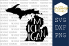 Michigan SVG PNG DXF Silhouette Cricut Cut Files Cutting example image 1