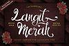 Langit Merah Font with Bonus 6 Dark Texture Backgrounds example image 1