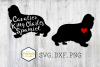 Cavalier King Charles Spaniel SVG PNG DXF Dog Breed Lover Cu example image 1