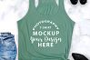 Bella Canvas 8800 tank top mock-up color MINT example image 2