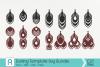 Earrings Svg, Earrings Template Svg, Leather Earrings Svg example image 1