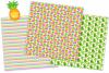 Tropical digital papers, Flamingo digital papers, Cactus example image 3