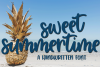 Sweet Summertime - A Hand-Written Script Font example image 1