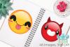 Emoji Faces Clipart, Instant Download Vector Art example image 3