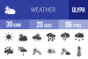 30 Weather Glyph  Icons example image 1