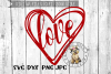Love Heart - Valentine - Hand drawn - SVG cut file example image 2