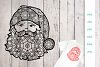 Santa Claus Zentangle SVG | DXF example image 1