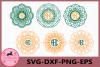 Mandala Circle Monogram svg, Mandala svg, Mandala Frame example image 1