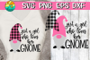 Just A Girl Who Loves Her Gnome- Buffalo Plaid - SVG PNG EPS example image 1