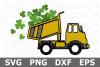 St Patrick's Dump Truck - St Patricks Day SVG Cut File example image 1