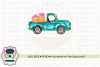 Truck with Pumpkins and bows Sublimation Design, Printable example image 1