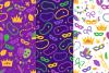 12 Mardi Gras Seamless Patterns example image 5