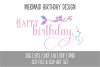 Mermaid Happy Birthday SVG Cut File and PNG Clip Art Set example image 5