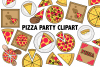 Pizza Party Clipart example image 2