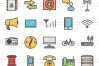 140 IT & Communication Filled Line Icons example image 3