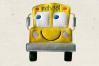 Cartoon School Bus Applique Embroidery Design example image 1