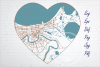 New Orleans city road map svg, eps, dxf, png, jpg, Heart art example image 1