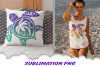 Sea Turtle Palm Beach Vibes Sublimation PNG Bundle example image 2