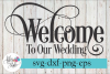 Welcome to our Wedding Sign SVG Cutting Files example image 1