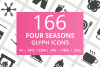 166 Four Seasons Glyph Icons example image 1