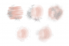 Blush Pink and Silver Glitter Watercolor Backgrounds PNG example image 2