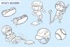 Kids Playing Baseball Digital Stamps example image 2