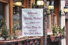 White Yard Flag Mockup for Christmas, A Rustic Shop Mock Up example image 2