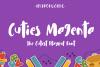 Cuties Magenta - Playful Font - example image 1